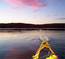 Elizabeth Pisani kayaks West Cork